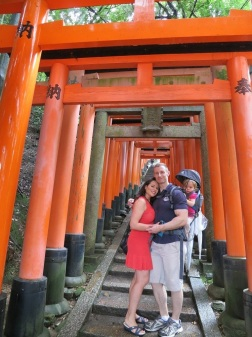 Our family in Kyoto, Japan with our 23 month old daughter!