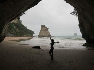 Enjoying a hike to Cathedral Cove and it's beaches on New Years Day!