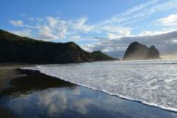 Pia and Black Sand Beaches about an hour drive from Auckland!