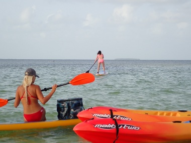 Paddle Boarding and Island hopping in the Keys!