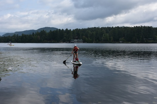 Paddle Boarding with my daughter on Mirror Lake!